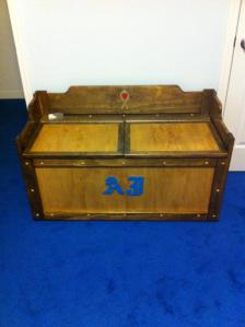 A toybox for RB made by my uncle. It's gorgeous. He's very good!