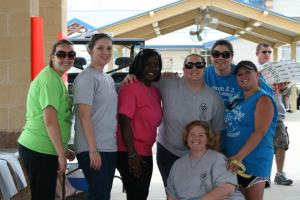 Just some of my friends and coworkers who organized a softball tournament for RB. I won't give away which one is me.