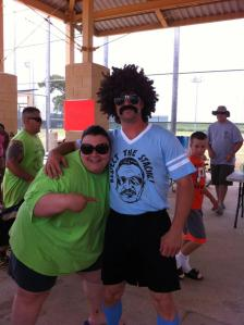 Team AJ softball tournament. Respect the 'stache.