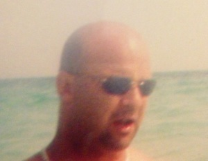 An old photo of my hubby looking like Bruce Willis