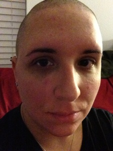 I went bald by choice. Unfortunately, due to harsh, poisonous medications, children with cancer don't have the choice.